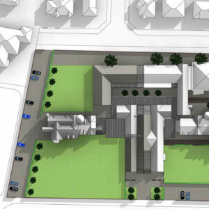 Masterplan: view of campus (Craigweil House end)